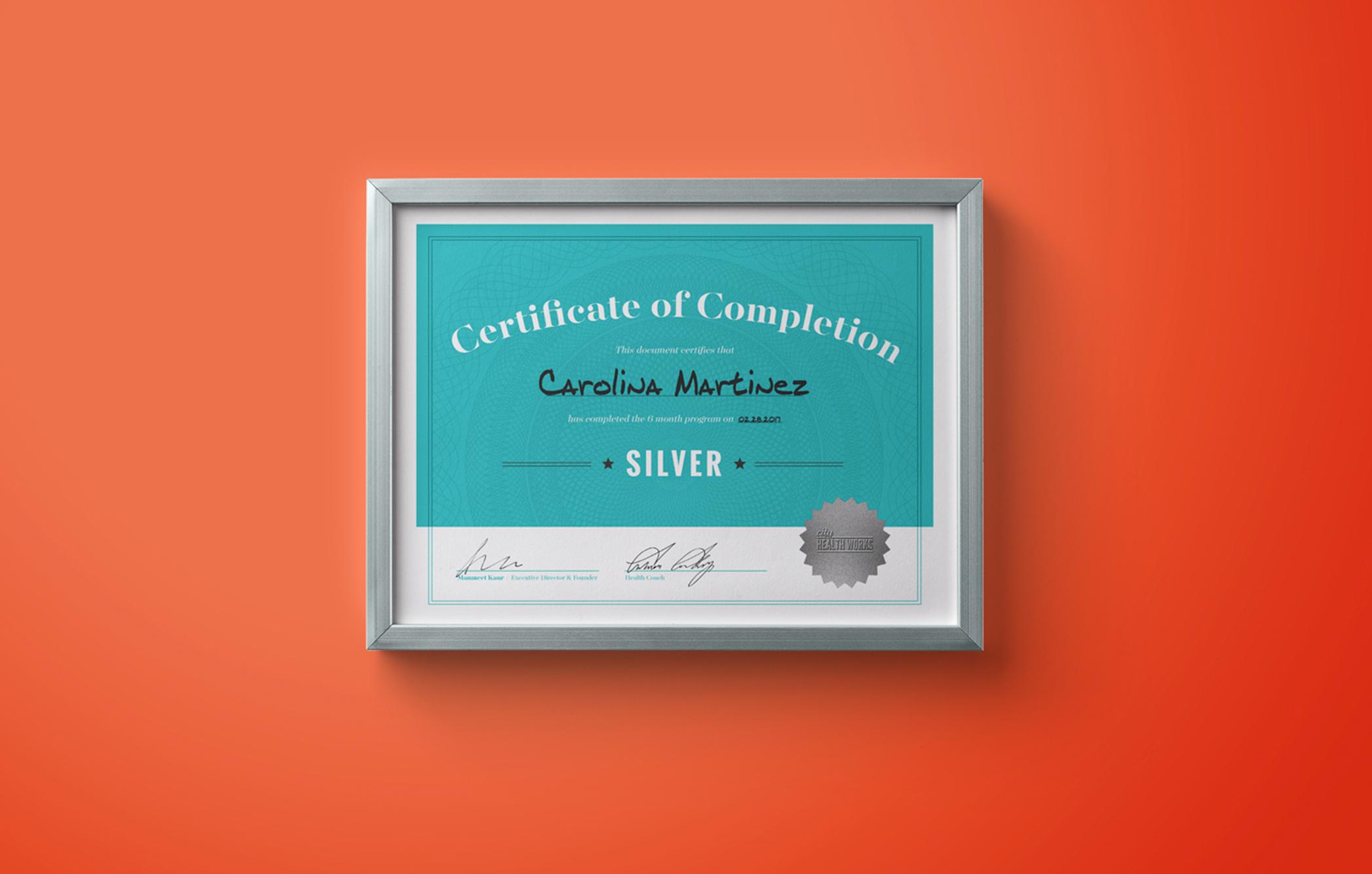 CHW - certificate